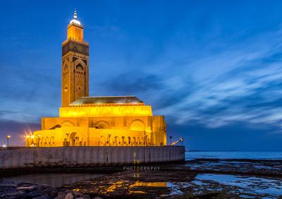 Hassan II Mosque at Dusk - Casablanca, Morocco
