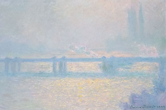 Charing Cross Bridge, Overcast Weather (Claude Monet)