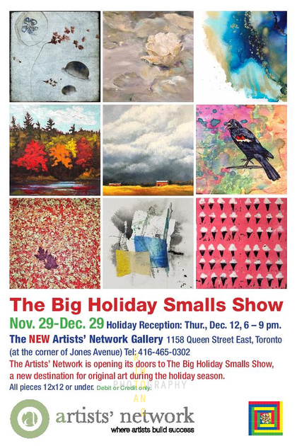 Big Holiday Smalls Show Postcard