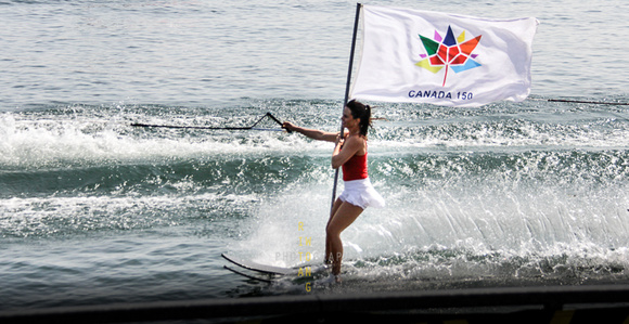 Canada 150 Flag on Waterski