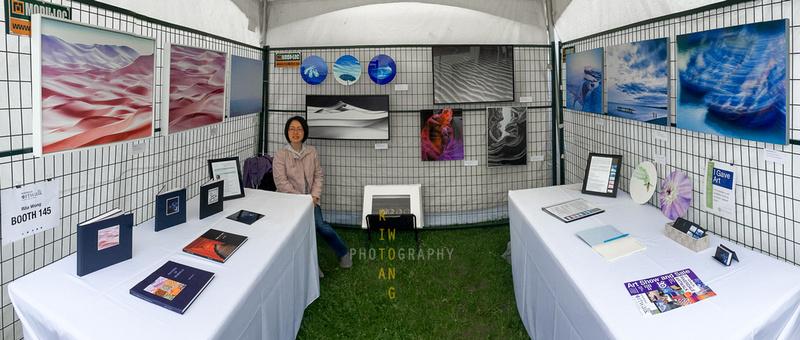 Riverdale ArtWalk 2018 Booth Panorama
