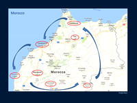 Map of Morocco Tour
