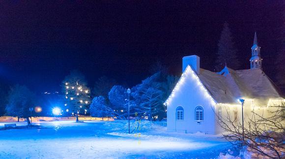 Church Scene in Winter