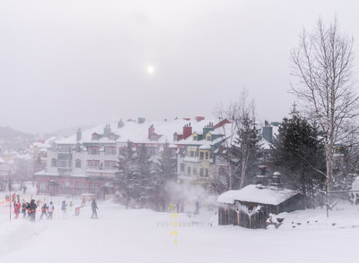 Snowy View of Mont Tremblant Resort